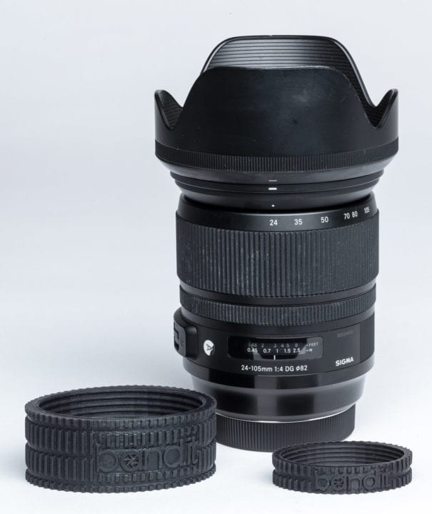 My Sigma 24-105mm f/4.0 Art series zoom lens with the band.its.