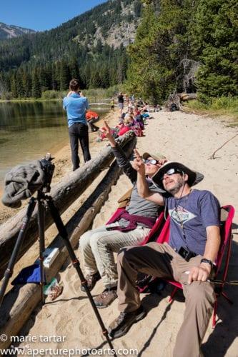 Spectators watching eclipse in Grand Teton 2017 © Marie Tartar