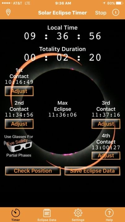 Solar Eclipse Timer 2017