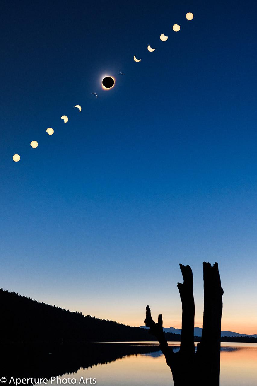 Total Solar Eclipse Grand Teton Phelps Lake 2017 © Aperture Photo Arts